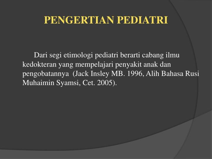 Pengertian pediatri