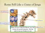 rome fell like a game of jenga
