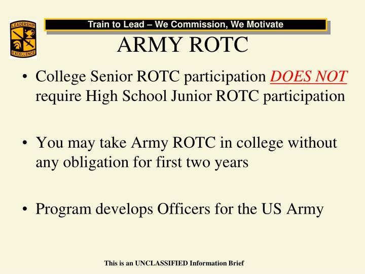 Ppt army reserve officer training corps rotc united states army rotc toneelgroepblik Choice Image