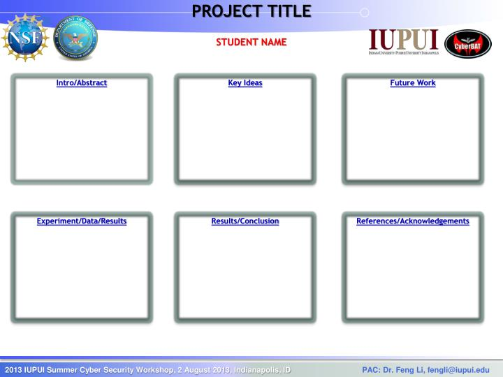 project title n.
