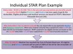 individual star plan example
