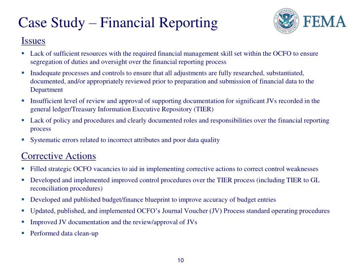 Case Study – Financial Reporting