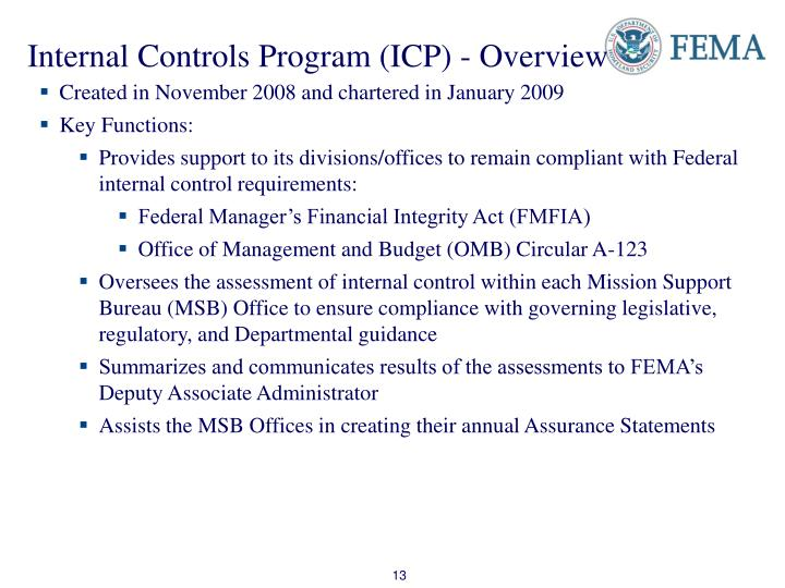 Internal Controls Program (ICP) - Overview