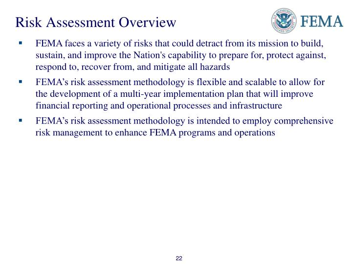 Risk Assessment Overview
