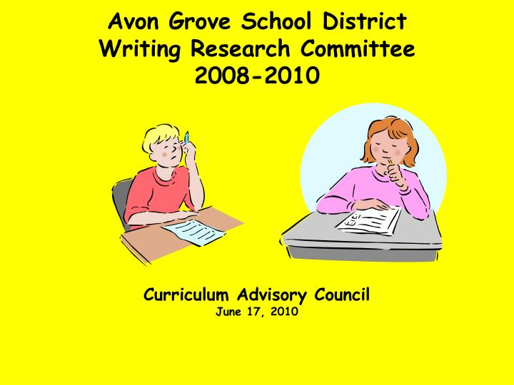 avon grove school district writing research committee 2008 2010 n.