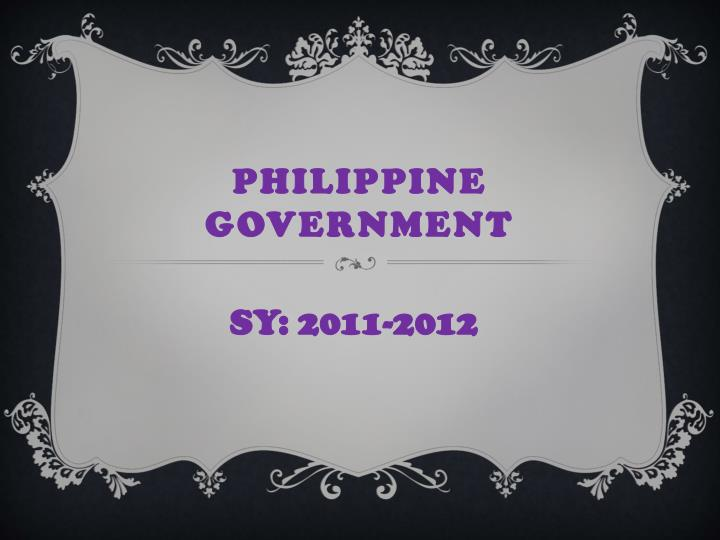 philippine government n.
