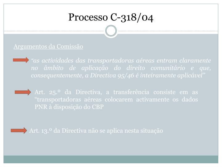 Processo C-318/04