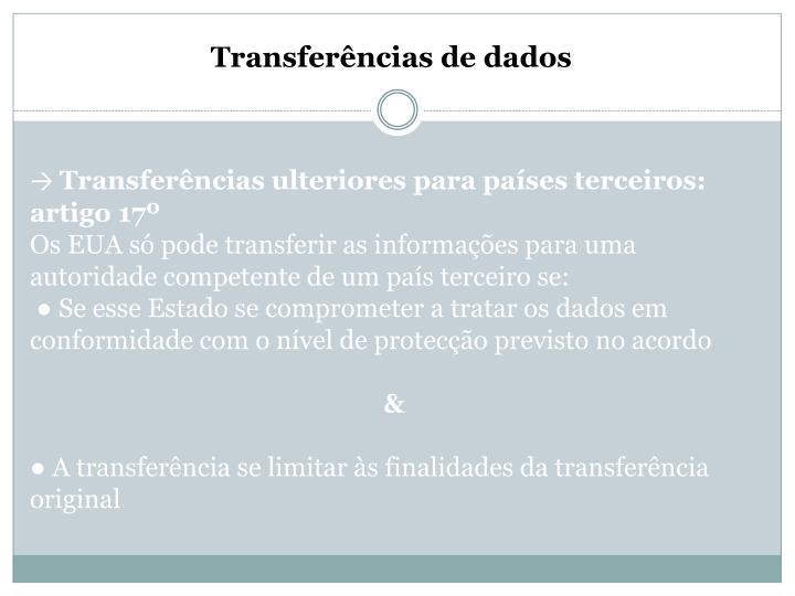 Transferências de dados