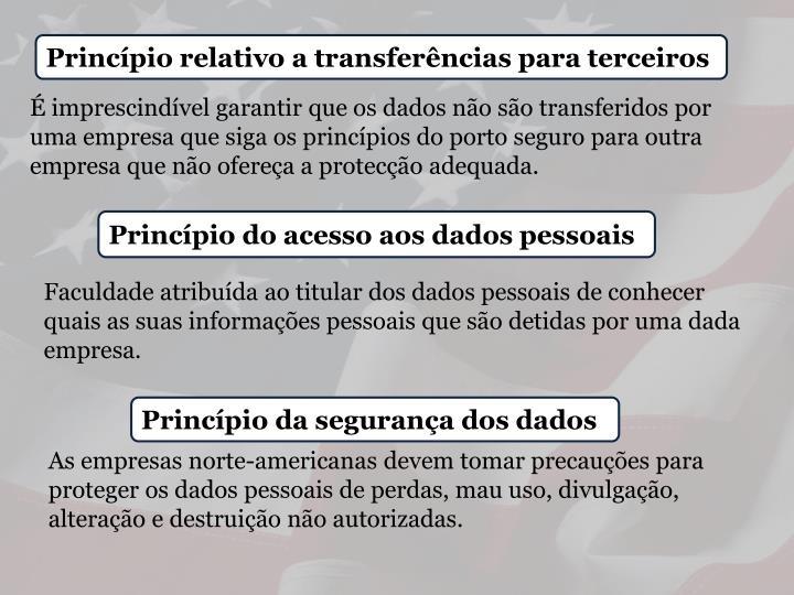 Princípio relativo a transferências para terceiros