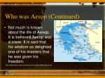 who was aesop continued1