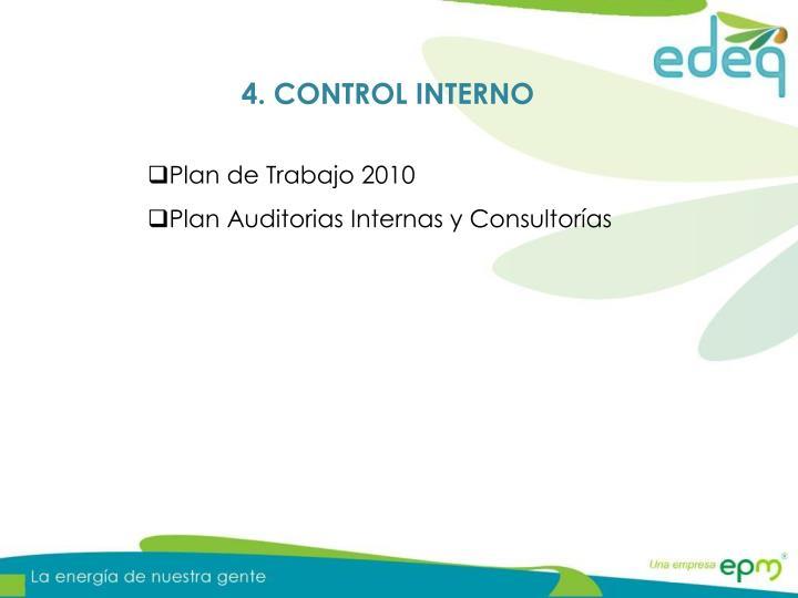 4. CONTROL INTERNO