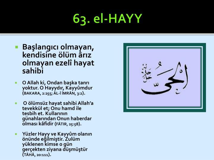63. el-HAYY