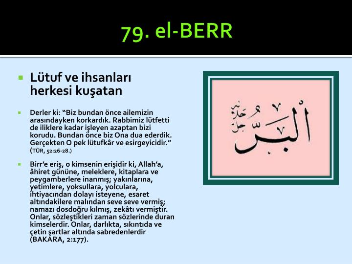 79. el-BERR