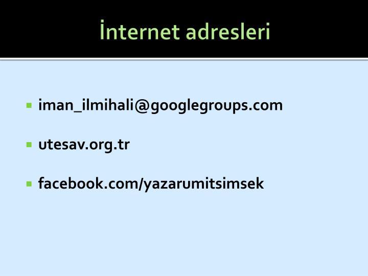 İnternet adresleri