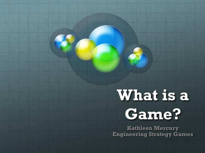 what is a game n.