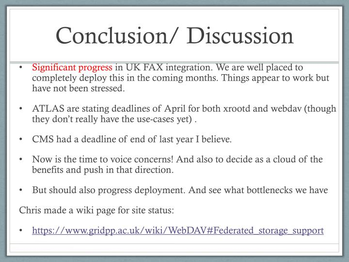 Conclusion/ Discussion