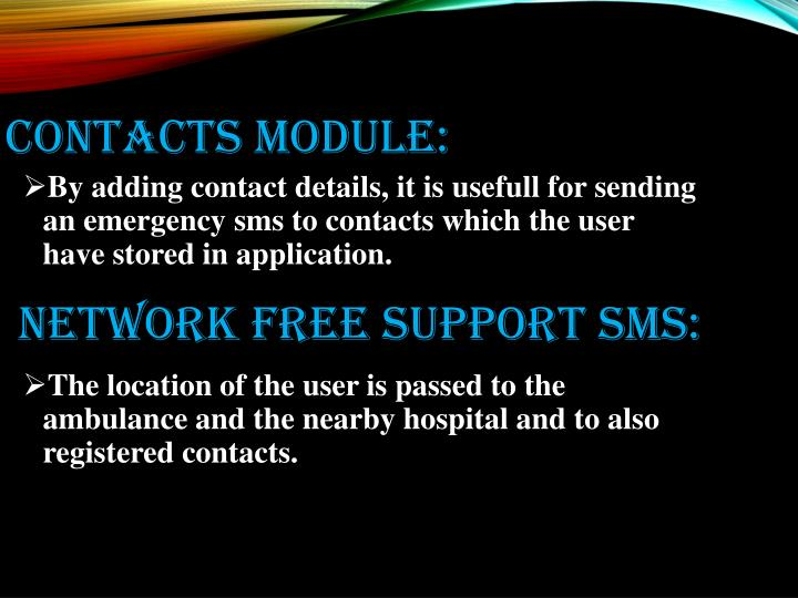 Contacts module: