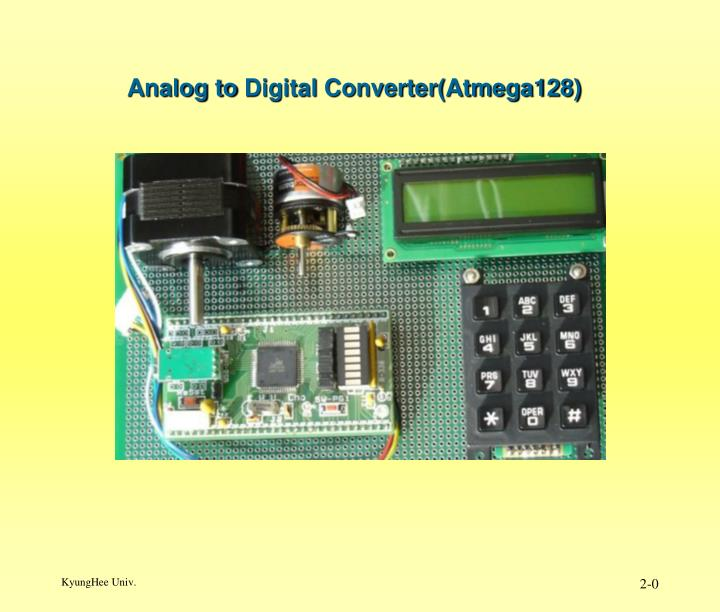 analog to digital converter atmega128 n.