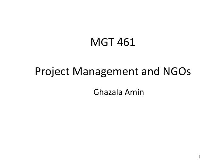 mgt 461 project management and ngos n.
