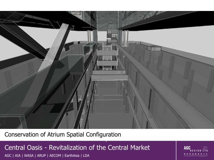 Conservation of Atrium Spatial Configuration