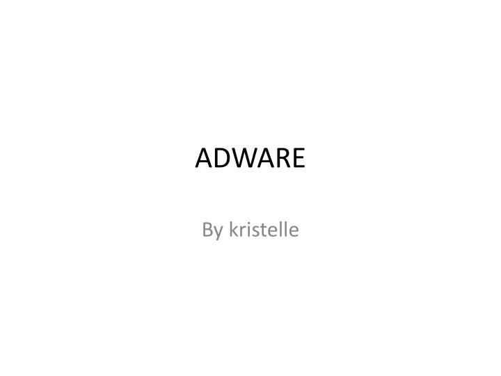 adware n.