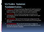 virtudes humanas fundamentales
