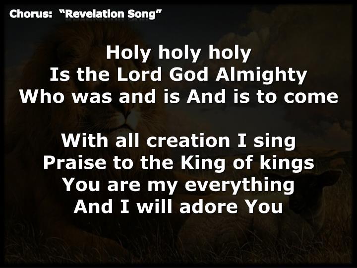 Chorus revelation song