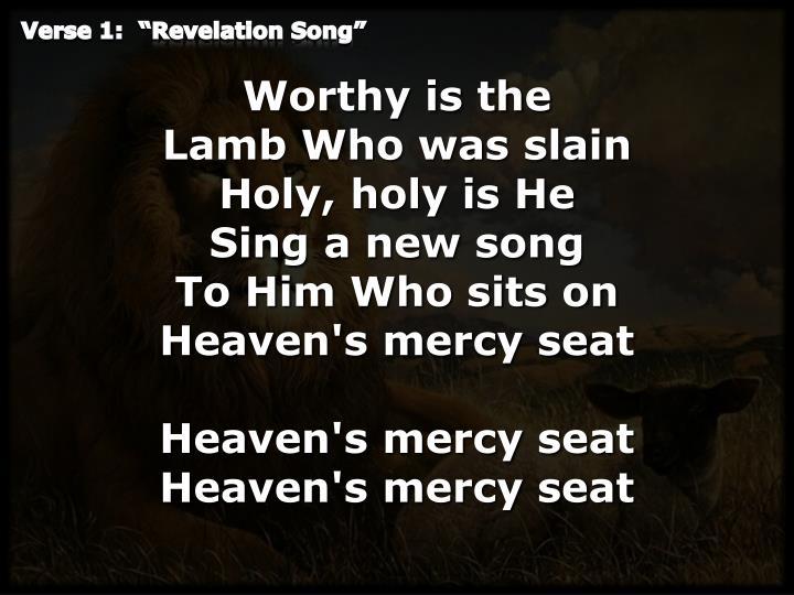 Verse 1 revelation song