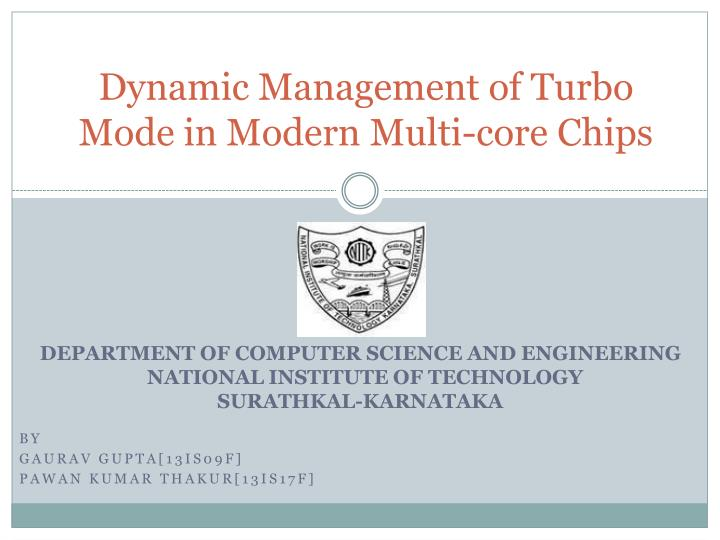 dynamic management of turbo mode in modern multi core chips n.