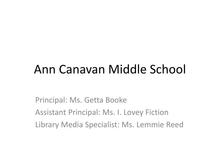 ann canavan middle school n.