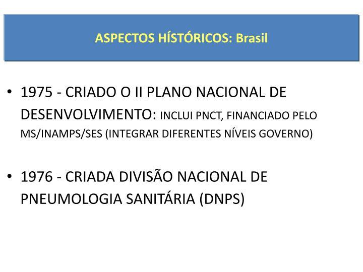 ASPECTOS HÍSTÓRICOS: Brasil