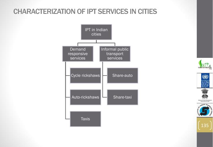 Characterization of IPT services in cities