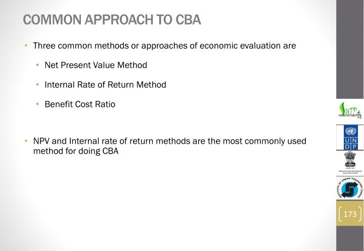 Common Approach to CBA