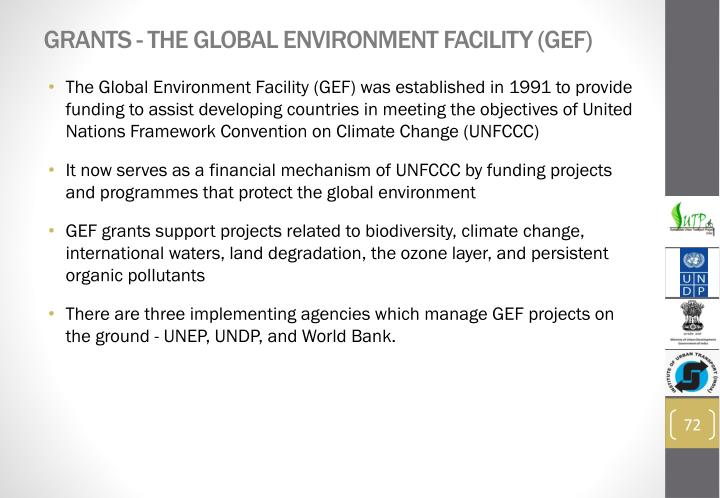 Grants - The Global Environment Facility (GEF)