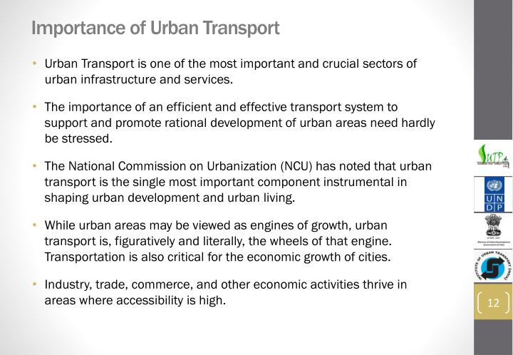 Importance of Urban Transport