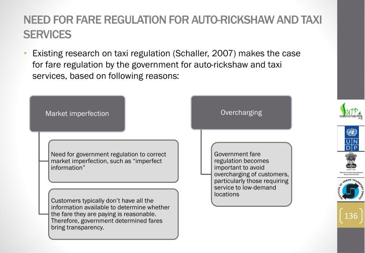 Need for fare regulation for auto-rickshaw and taxi services