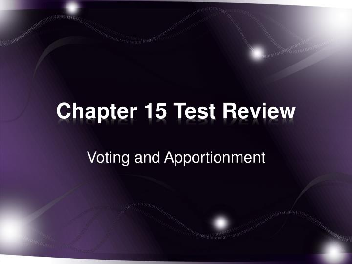 chapter 15 test review n.