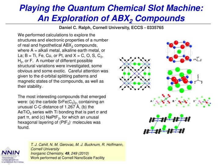 playing the quantum chemical slot machine an exploration of abx 2 compounds n.