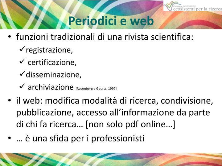 Periodici e web