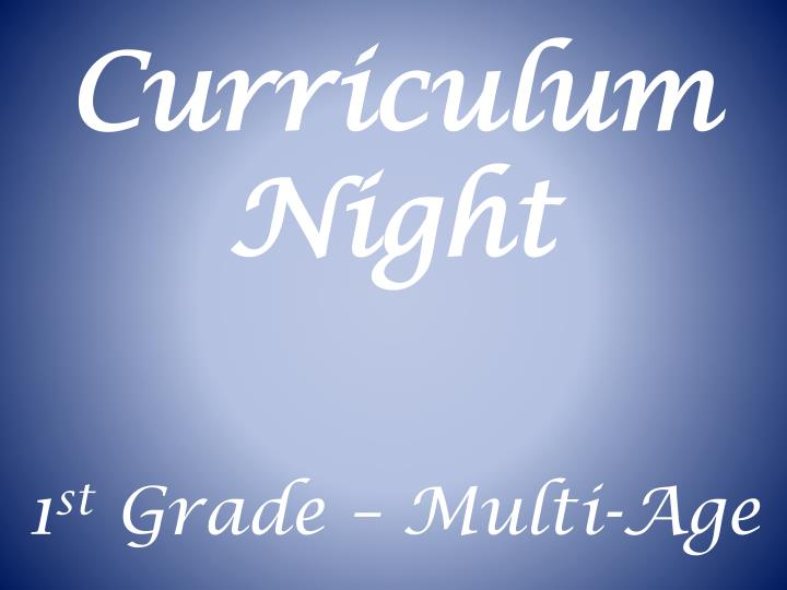 curriculum night n.