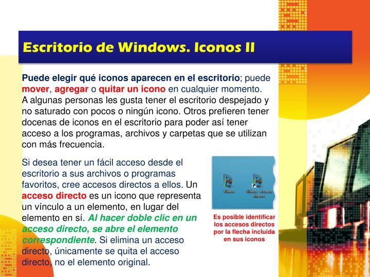 Escritorio de Windows. Iconos II