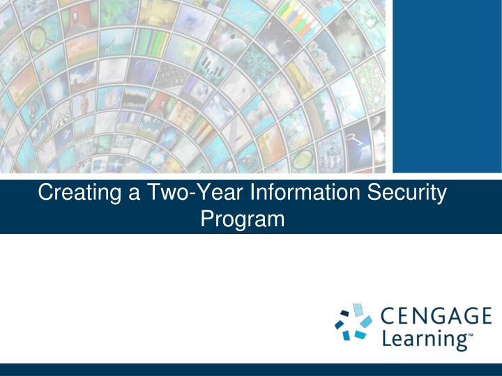 creating a two year information security program n.