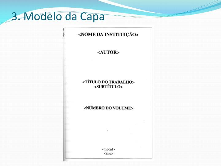 3. Modelo da Capa