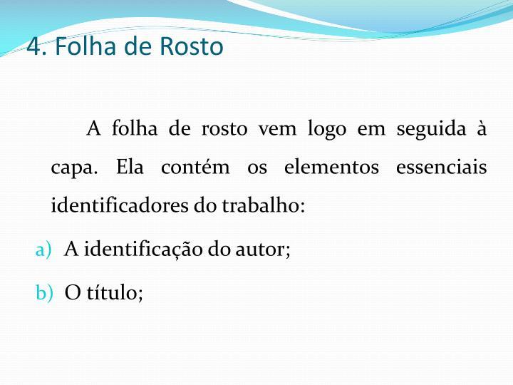 4. Folha de Rosto