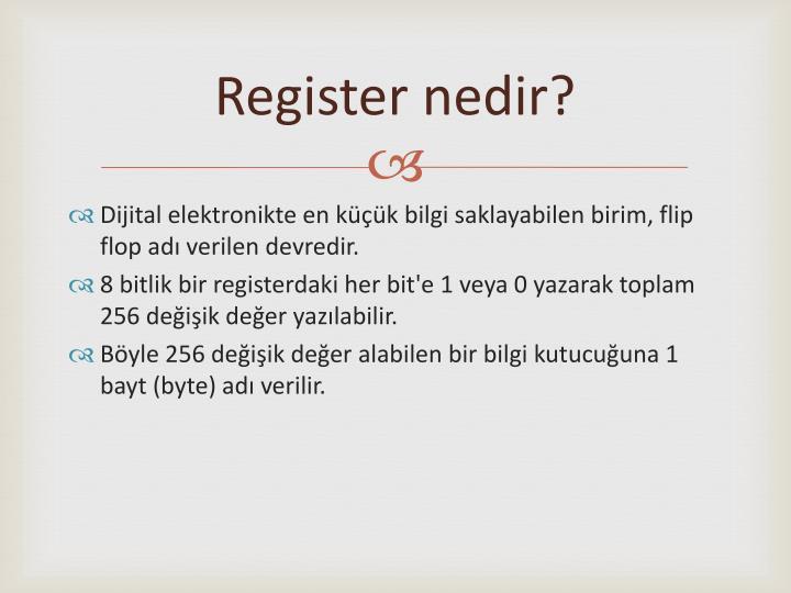 Register nedir