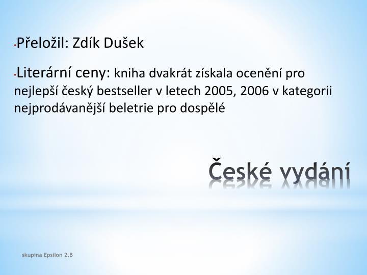 České vydání