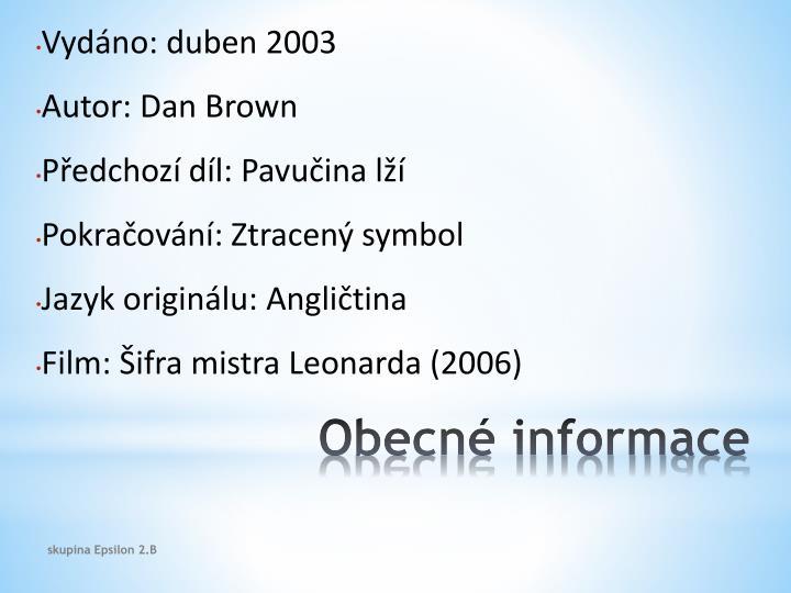Obecn informace
