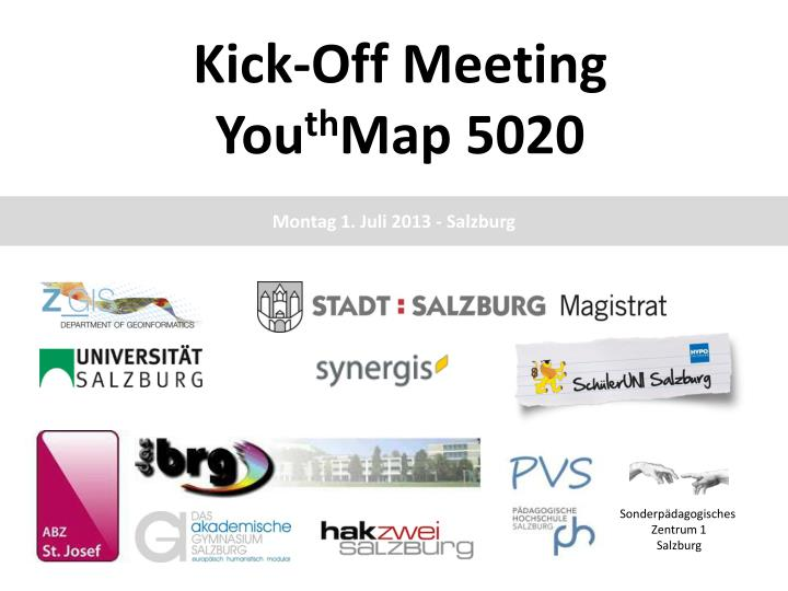 kick off meeting you th map 5020 n.