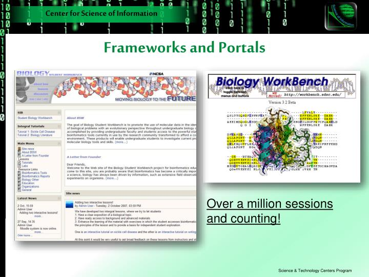 Frameworks and Portals