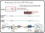 backups 1 3 non nat cpe case